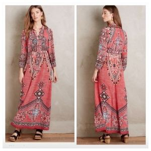 ANTHROPOLOGIE Suzani Maxi Dress By Hemant & Nandit